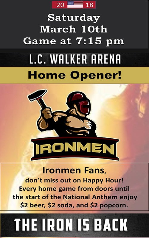 Mar 10 – Ironmen Game Opener – Professional Indoor Football