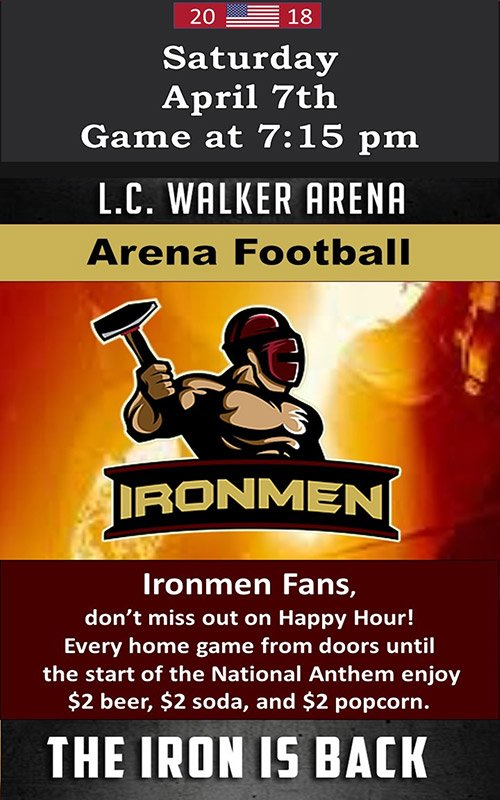 Apr 7 – Ironmen Game – Professional Arena Football