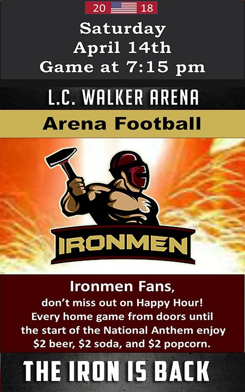 Apr 14 – Ironmen Game – Professional Arena Football