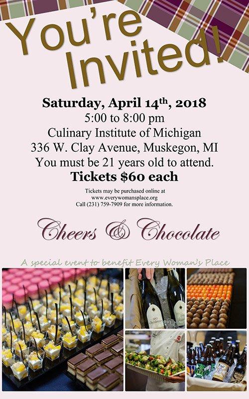 Apr 14 – Cheers & Chocolate