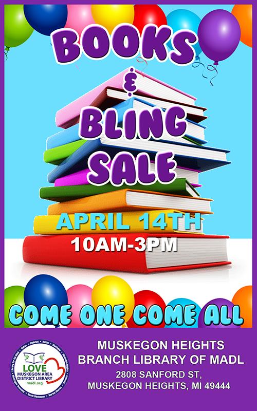 Apr 14 – Books & Bling Sale