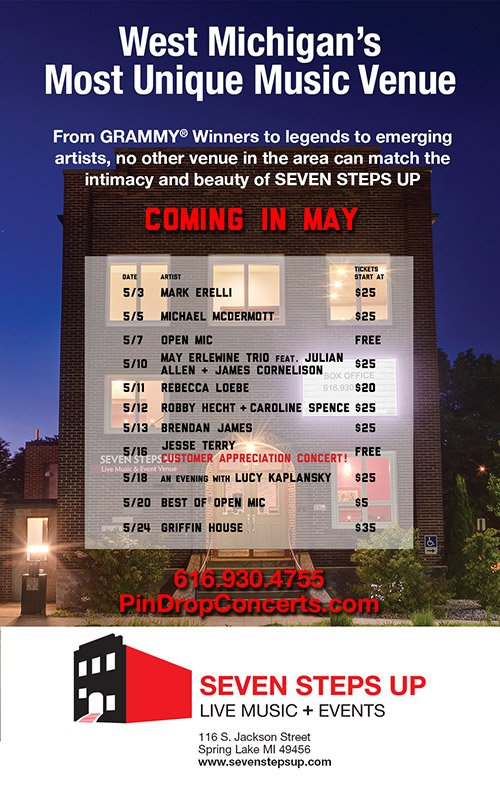 Seven Steps Up – May Concert Schedule