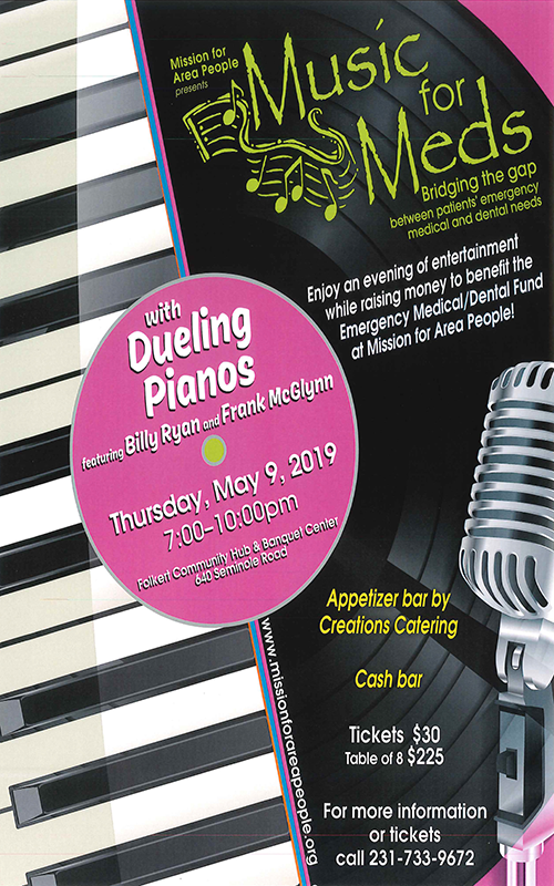 May 9 – Music for Meds with Dueling Pianos