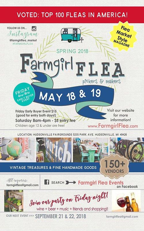 May 18, 19 – Spring 2018 – Farmgirl Flea Market