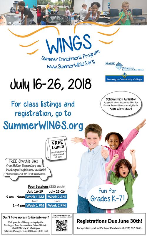 July 16-26 – WINGS Summer Enrichment Program 2018