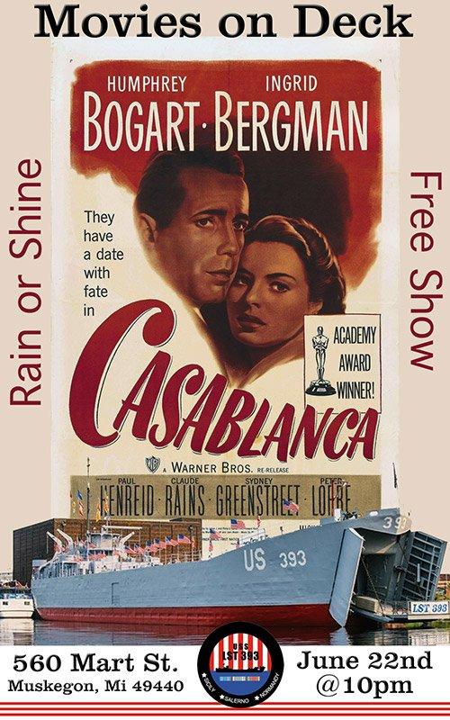 June 22 – Movies On Deck – Casablanca