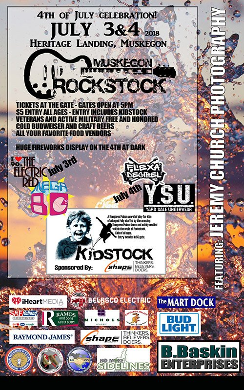 July 3, 4 – Muskegon Rockstock