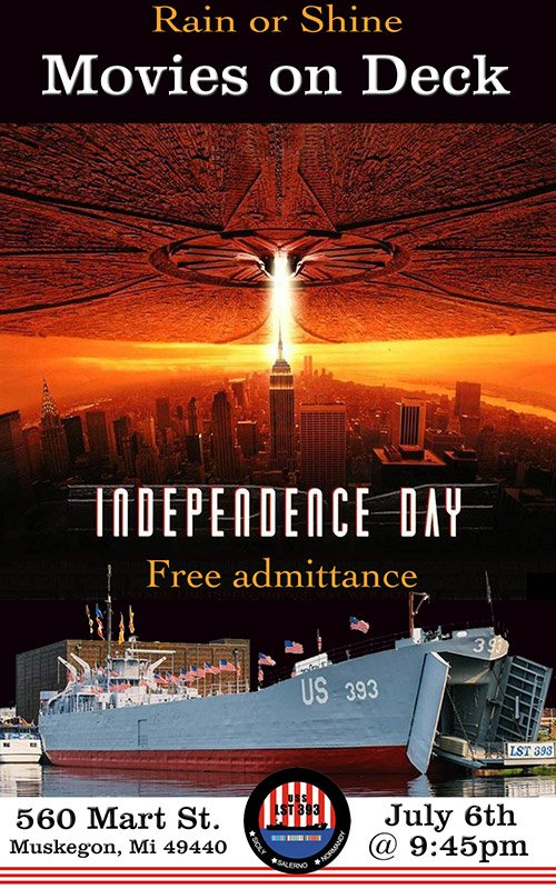 July 6 – Movies On Deck – Independence Day