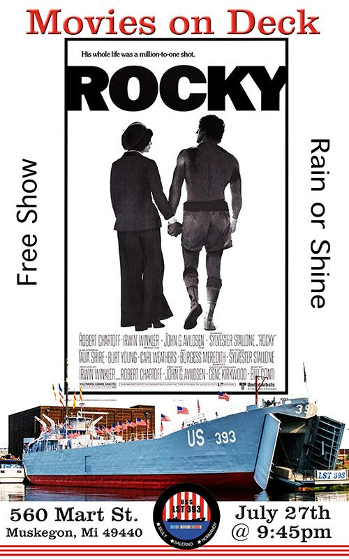 July 27 – Movies On Deck – Rocky