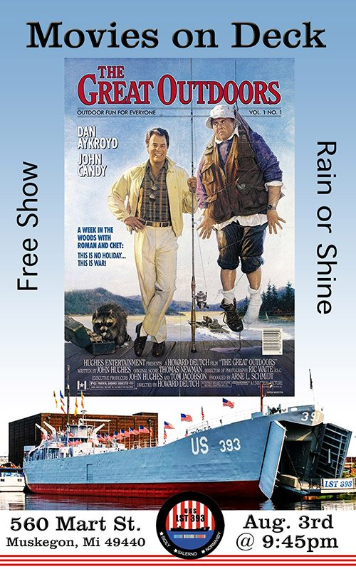 Aug 3 – Movies On Deck – The Great Outdoors