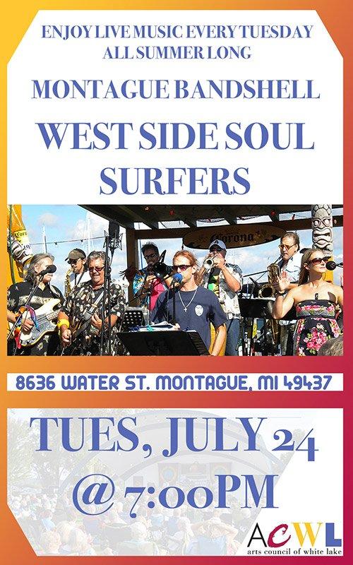 July 24 – Montague Bandshell Event – West Side Soul Surfers