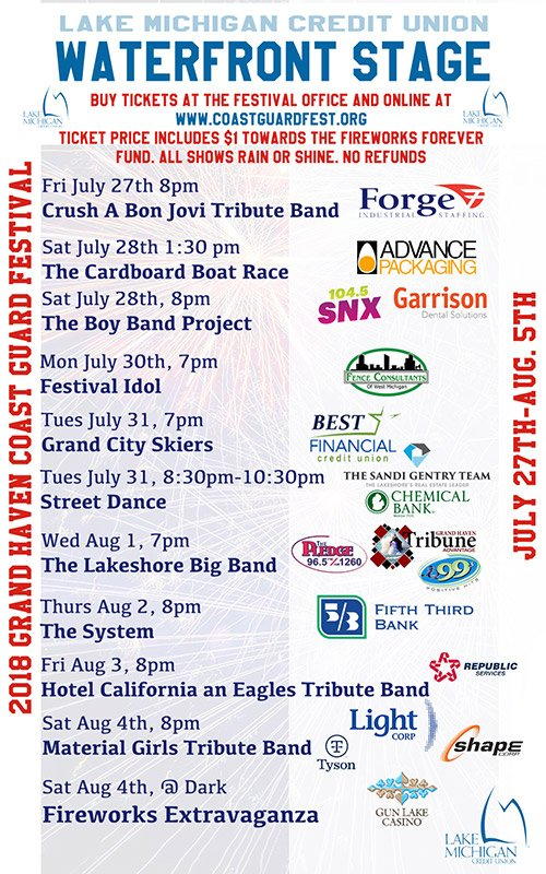 Coast Guard Festival – Waterfront Stage Concerts