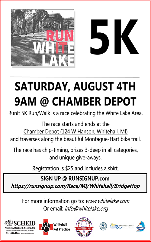 Aug 4 – Run White Lake – 5k