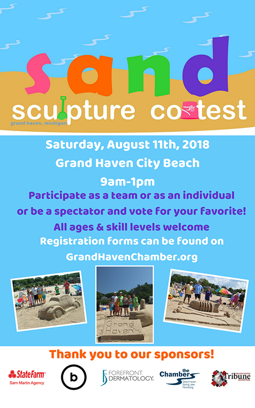 Aug 11 – Sand Sculpture Contest – Grand Haven City Beach