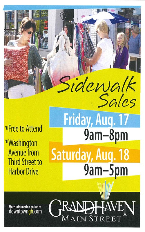 Aug 17, 18 – Grand Haven Sidewalk Sales