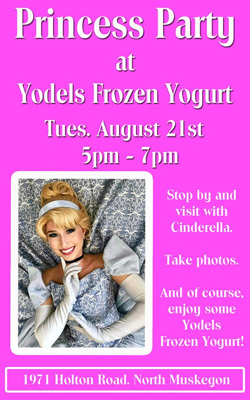 Aug 21 – Princess Party at Yodels Frozen Yogurt