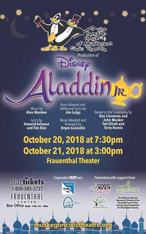 Oct 20, 21 – Disney Aladdin Jr.