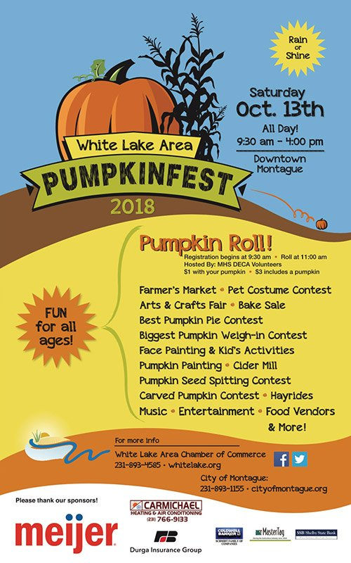 Oct 13 – White Lake Area Pumpkinfest
