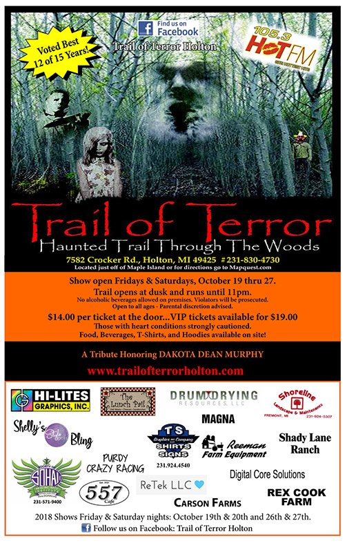 Oct 19-27 – Trail of Terror – Holton