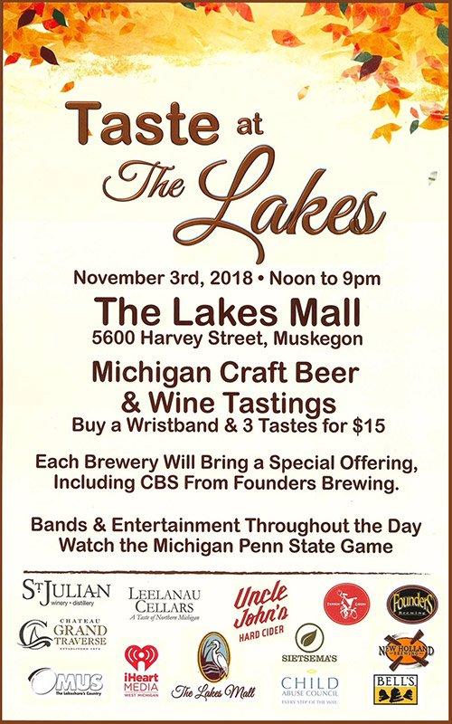 Nov 3 – Taste of the Lakes