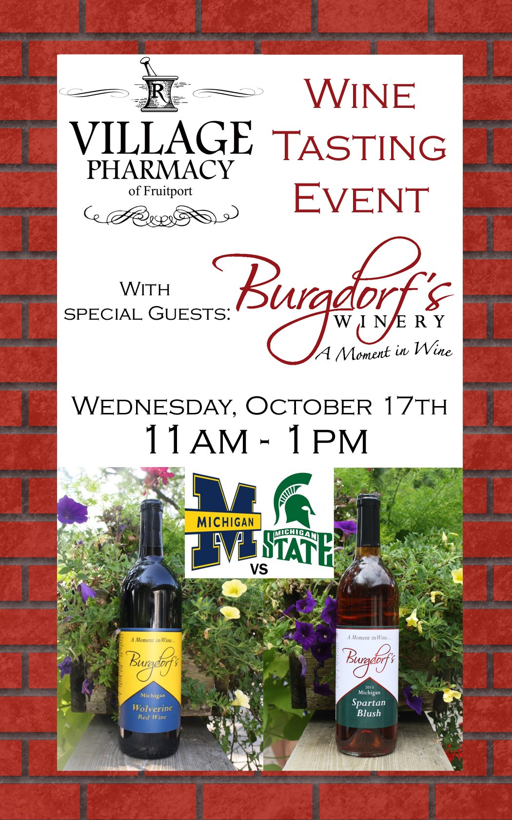 Oct 17 – Michigan / Michigan State – Village Pharmacy of Fruitport