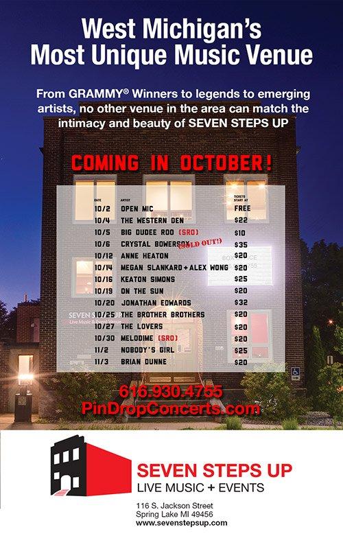 Seven Steps Up – October 2018 Concert Schedule