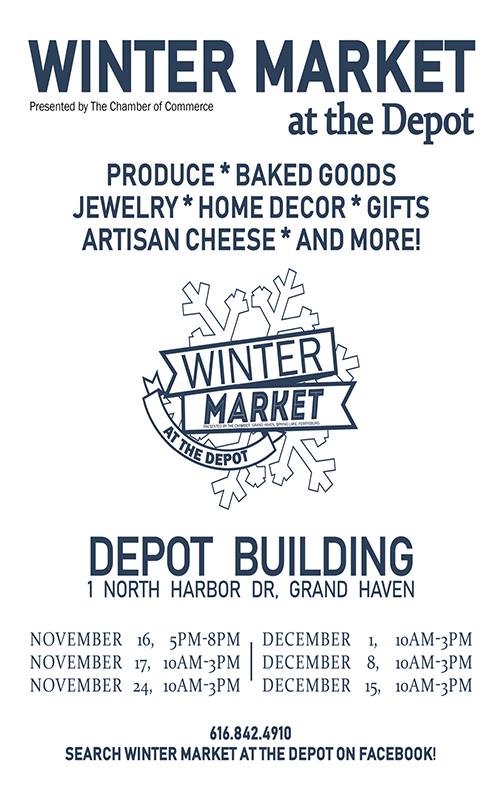 Starts Nov 16 – Winter Market at The Depot – Grand Haven