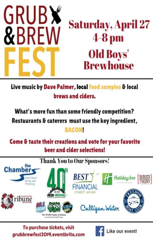 Apr 27 – Grub & Brew FEST – Old Boys' Brewhouse