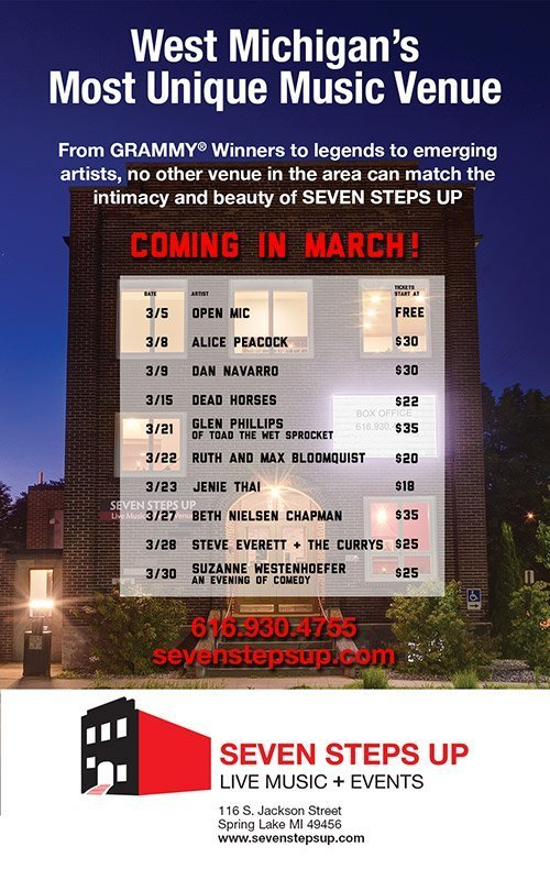 Seven Steps Up – March 2019 Concert Schedule