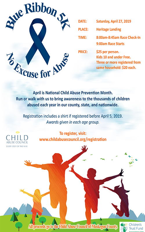 Apr 27 – Blue Ribbon 5K – No Excuse for Abuse