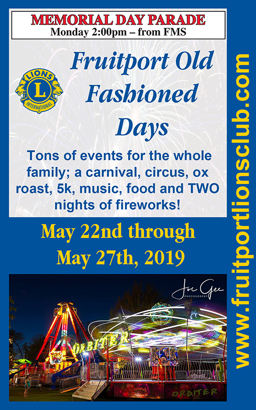 May 22-27 – Fruitport Old Fashioned Days