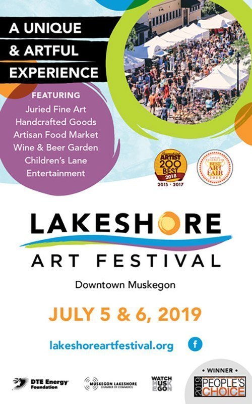July 5,6 – Lakeshore Art Festival