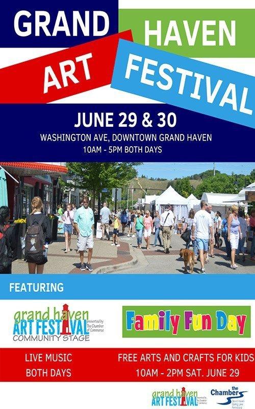 June 29-30 – Grand Haven Art Festival
