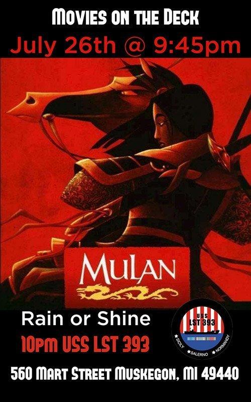 July 26 – Movies On Deck – Mulan