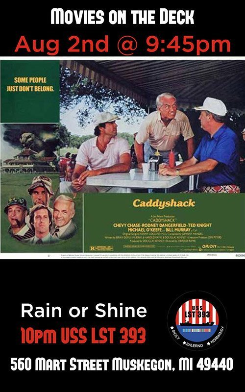 Aug 2 – Movies On Deck – Caddyshack