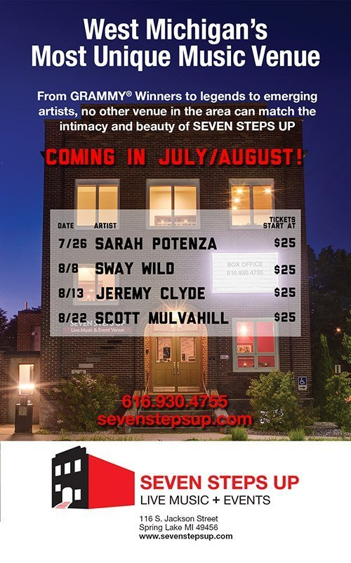Seven Steps Up – July-August 2019 Concert Schedule