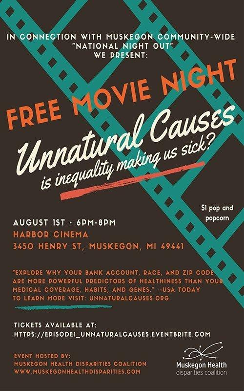 Aug 1 – Free Movie Night – Unnatural Causes