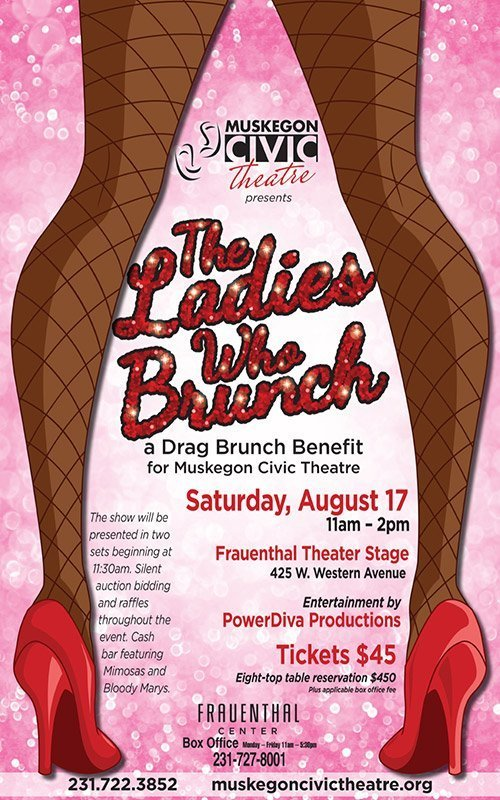 Aug 17 – The Ladies Who Brunch – Muskegon Civic Theatre