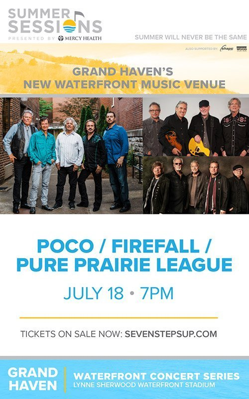 July 18 – Waterfront Concert Series – Poco + Firefall + Pure Prairie League